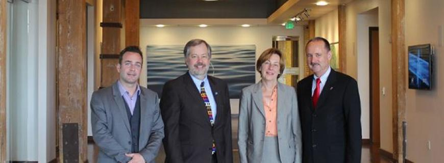 Swiss consul general visits global water center for Consul enterprise